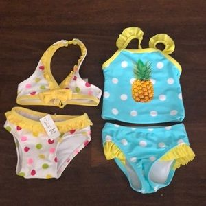 Brand new baby girl bathing suits
